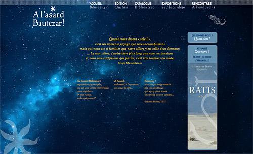 Site des éditions A l'asard Bautezar